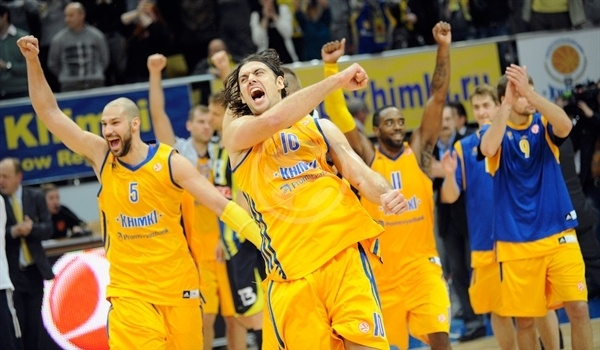 Players BC Khimki celebrates - EB12