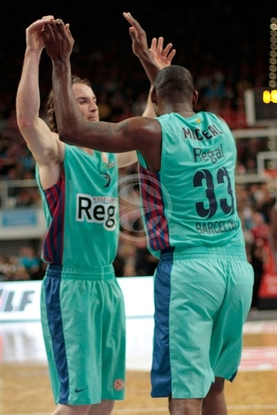 Marcelinho Huertas and Pete Mickeal - FC Barcelona Regal - EB12