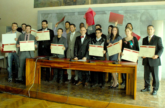 EBI Master Class 2011 Graduation at Ca Foscari University in Venice, Italy