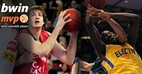 Regular Season Week 10, bwin MVPs: Nemanja Bjelica of Caja Laboral and Shawn James of Maccabi