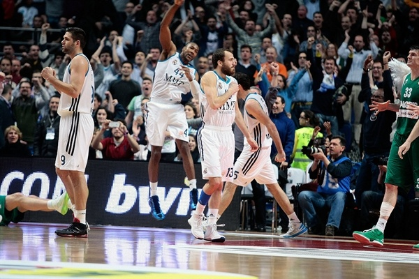 Sergio Rodriguez - Real Madrid celebrates - EB12