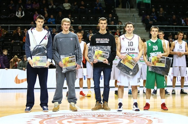 All-Tournament team - NIJT Siauliai 2013 (photo lithuanian Basketball Federation - Gintaras Siuparys)