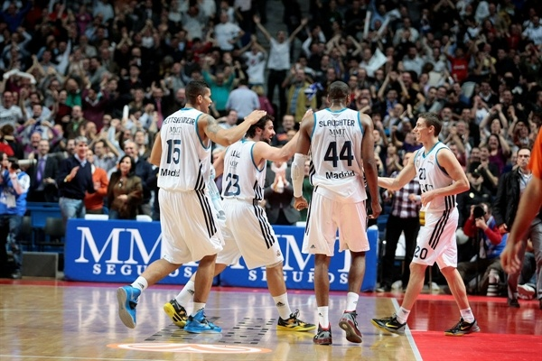 Jaycee Carroll - Real Madrid celebrates - EB12