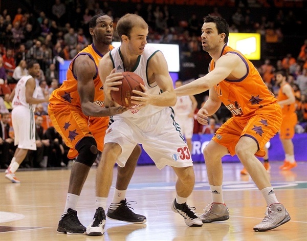 Nick Calathes - Lokomotiv Kuban - EC12 (photo Miguel Angel Polo - Valencia Basket)