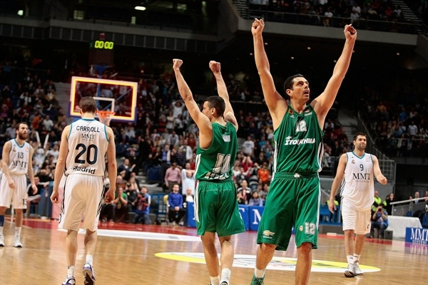 Ukic and Tsartsaris celebrates - Panathinaikos Athens - EB12