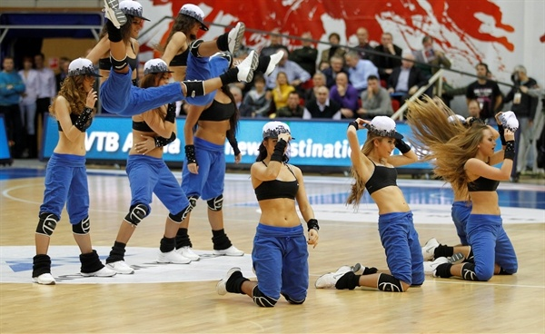 CSKA Moscow cheerleaders in action
