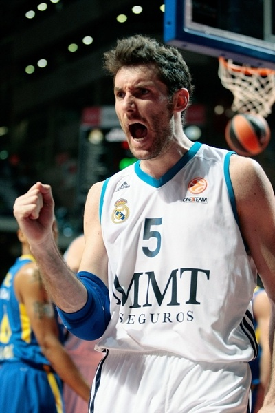 Rudy Fernandez celebrates - Real Madrid - EB12