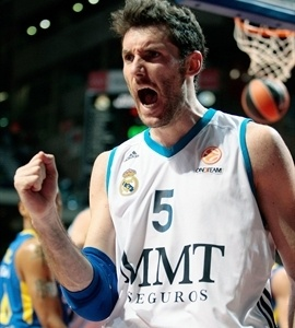 Rudy Fernandez celebrates - Real Madrid