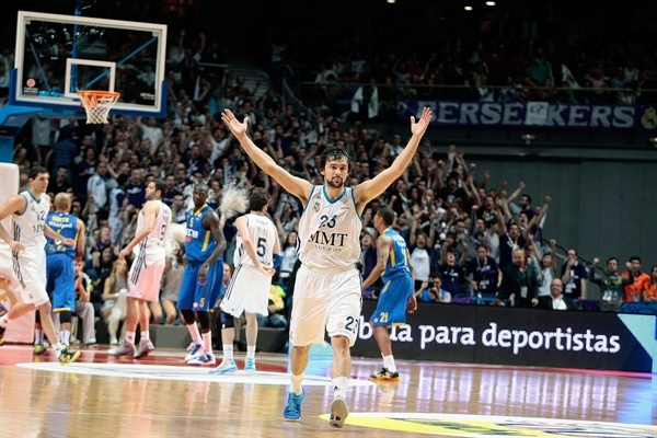Sergio Llull celebrates - Real Madrid - EB12