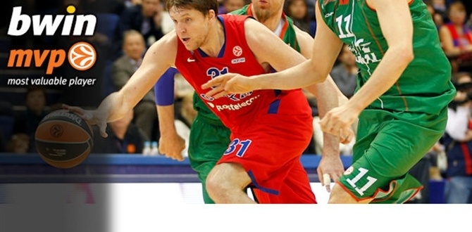Playoffs Game 2 bwin MVP: Victor Khryapa, CSKA Moscow