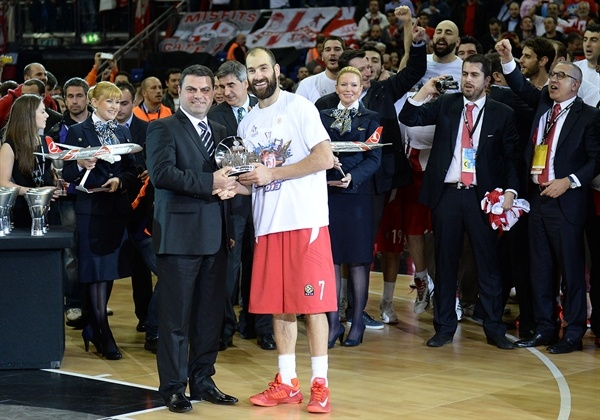 Vassilis Spanoulis MVP - Olympiacos Piraeus - Final Four London 2013