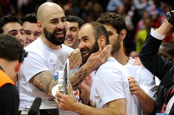 Vassilis Spanoulis MVP Final Four - Olympiacos Piraeus champ - Final Four London 2013