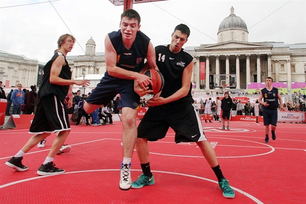 More basketball action at the Trafalgar Square Fan Zone