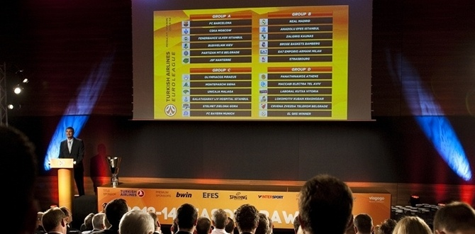 2013-14 Turkish Airlines Euroleague Draw results
