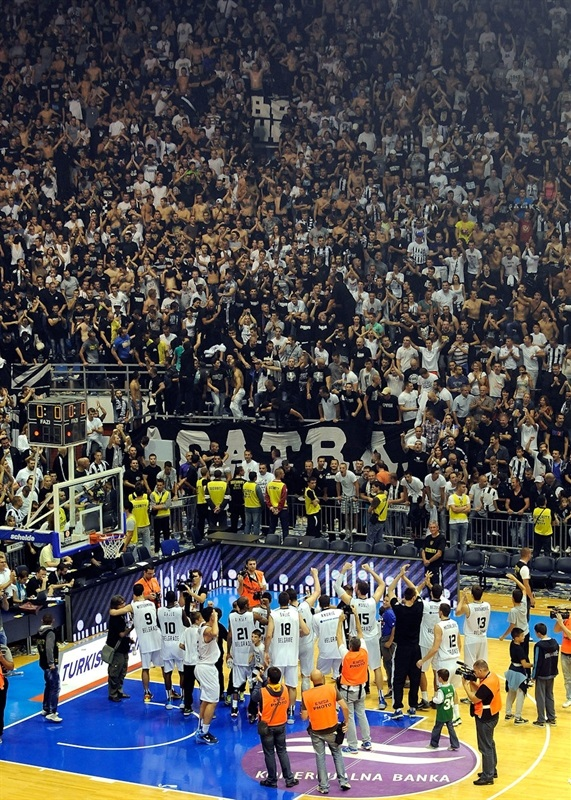Players Partizan NIS Belgrade celebrates - EB13