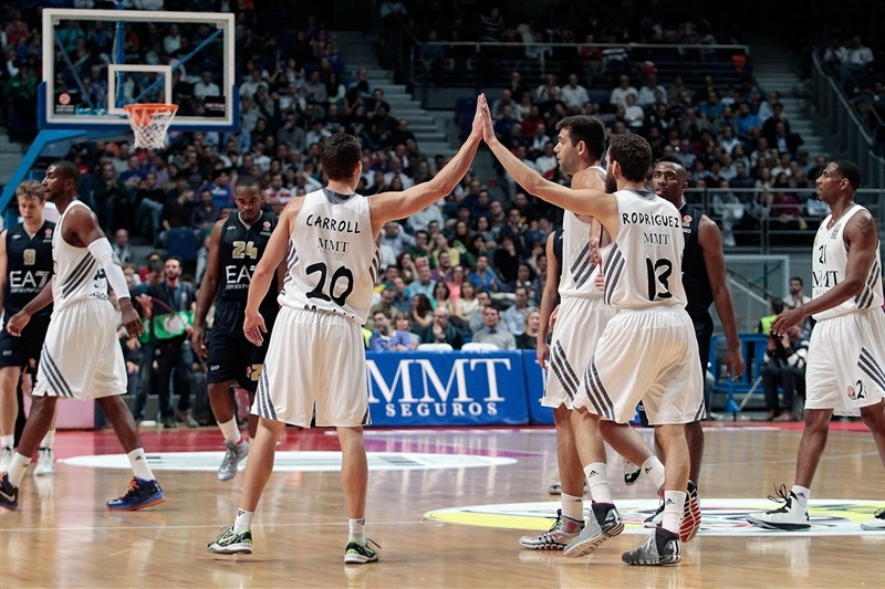 Jacee Carroll and Sergio Rodriguez celebrates - Real Madrid - EB13