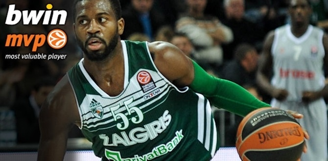 Regular season Round 5 bwin MVP: Justin Dentmon, Zalgiris Kaunas
