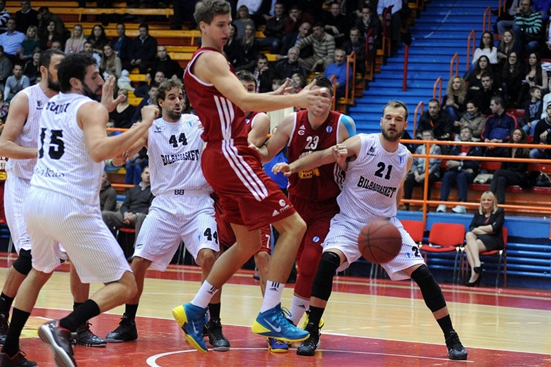 players Cedevita Zagreb and Bilbao Basket - EC13 (photo Cedevita)