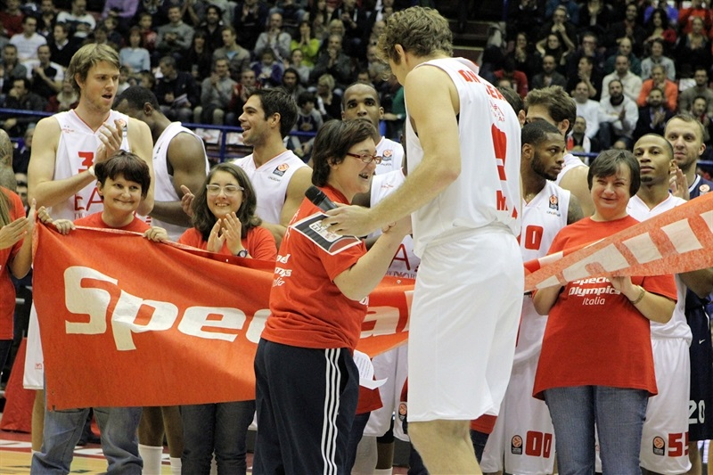 One Team - Nicolo Melli - Special Olympics Ceremony in Milan