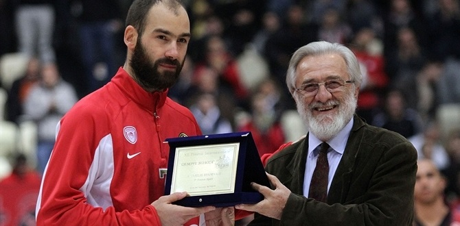 Spanoulis honored with prestigious Giuseppe Sciacca Award