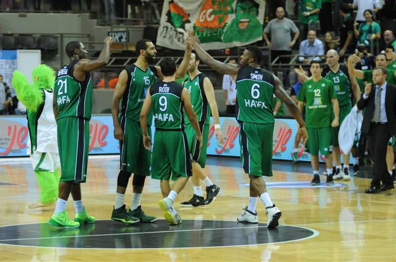 Maccabi Haifa Bazan celebrates - EC13 (photo Omri Shtain, Maccabi Haifa)