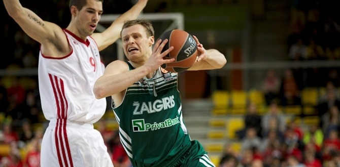 Zalgiris' Pocius to miss four weeks