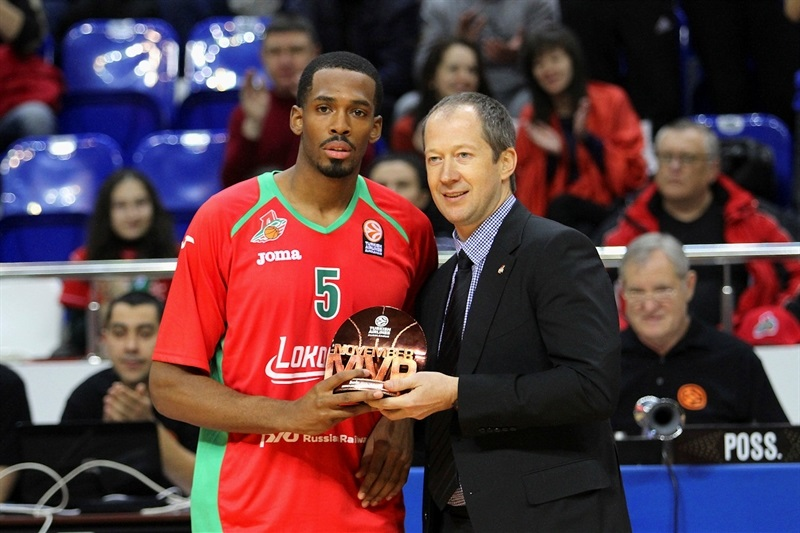 Derrick Brown - Lokomotiv Kuban - bwin MVP November 2013 - EB13