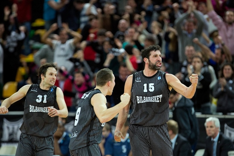 Alex Mumbru celebrates - Bilbao Basket - EC13 (photo Bilbao Basket)