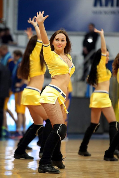 Khimki Moscow Region cheerleaders - EC13 (photo BC Khimki)