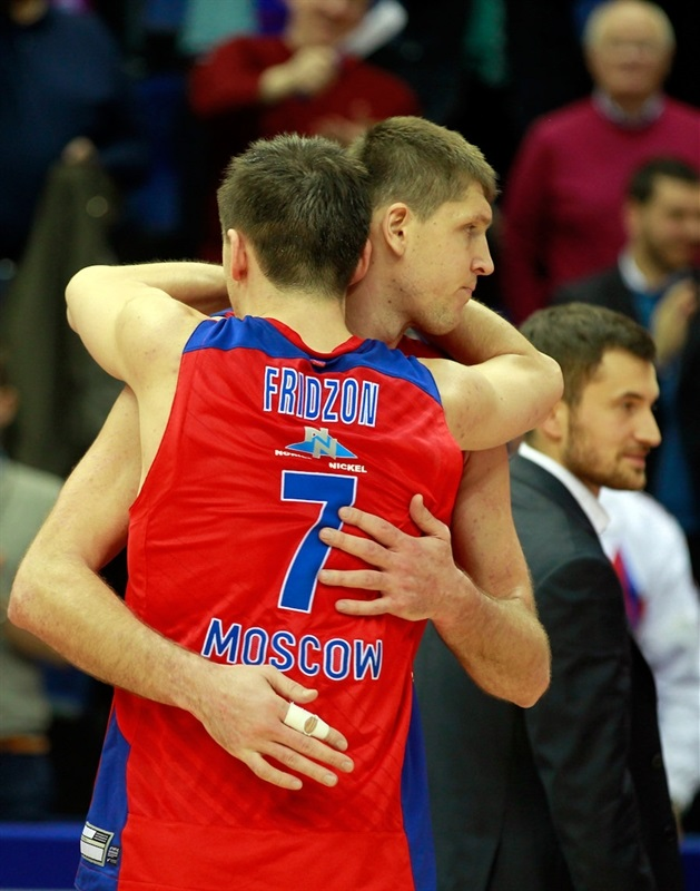 Victor Khryapa and Vitaly Fridzon celebrates - CSKA Moscow - EB13
