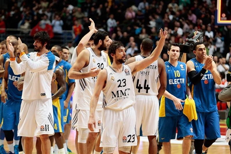 Sergio Llull - Real Madrid celebrates - EB13