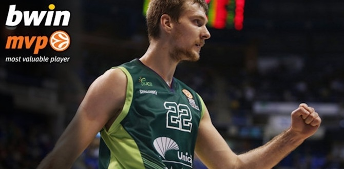 Top 16, Round 9 bwin MVP: Zoran Dragic, Unicaja Malaga