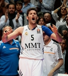 Rudy Fernandez celebrates - Real Madrid - EB13