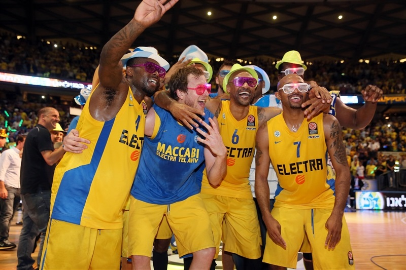 players Maccabi Electra celebrates - EB13