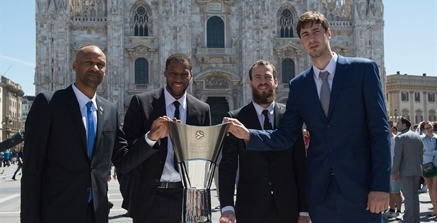 Devin Smith, Sonny Weems, Sergio Rodriguez and Ante Tomic - Final Four Opening Press Conference - Final Four Milan 2014