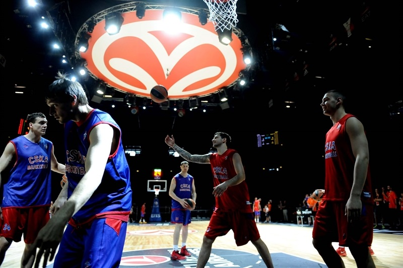 CSKA Moscow practices - Final Four Milan 2014