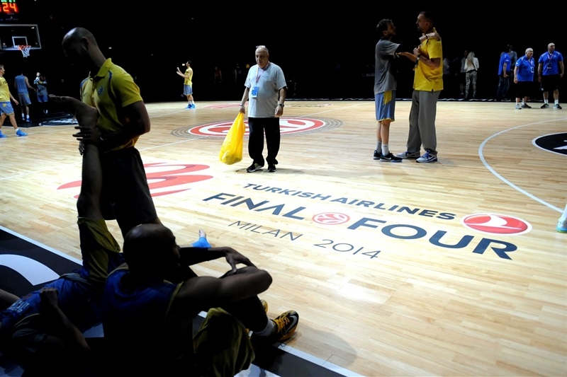 Maccabi Electra practices - Final Four Milan 2014