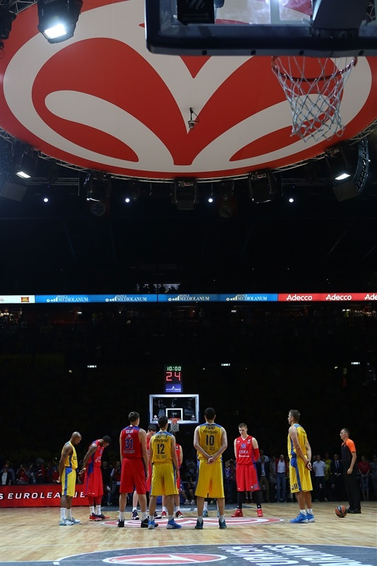 Minute of silence declared for Turkish victims - CSKA Moscow vs. Maccabi Electra - Final Four Milan 2014