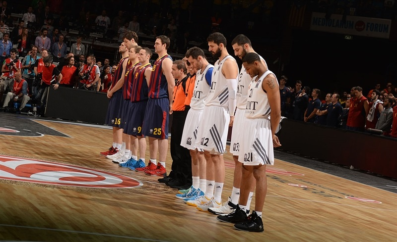 Minute of silence declared for Turkish victims - FC Barcelona vs. Real Madrid - Final Four Milan 2014