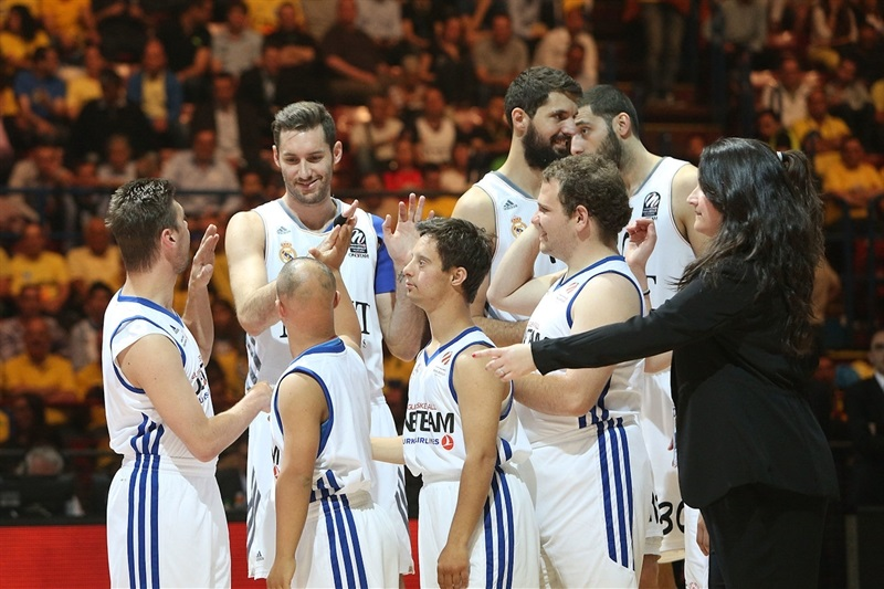 Rudy Fernandez of Real Madrid with One Team Special Olympics - Final Four Milan 2014 - EB13