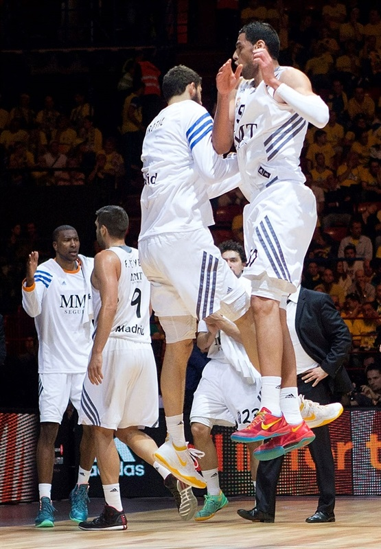Salah Mejri - Real Madrid celebrates - Final Four Milan 2014