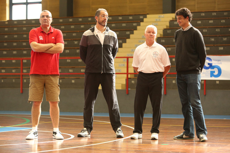 Jasmin Repesa, Antonio Orenga and Brian Hill - Coaches Clinic - Final Four Milan 2014
