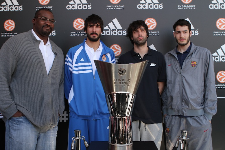 Sofoklis Schortsanitis, Dani Dies, Milos Teodosic and Alex Abrines at adidas Trophy Tour