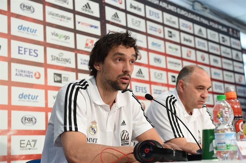 Sergio Llull of Real Madrid - Championship Game Press Conference, Milan 2014