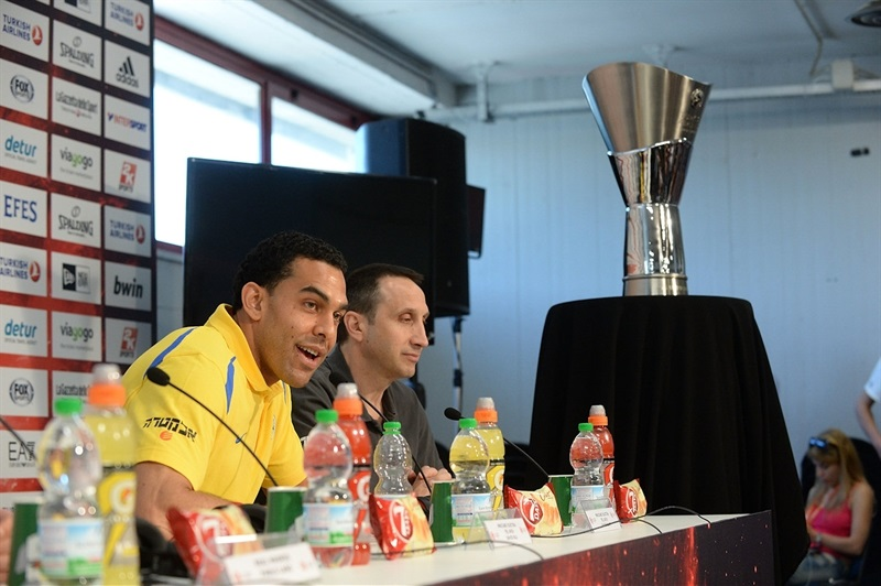 David Blu of Maccabi Electra - Championship Game Press Conference, Milan 2014