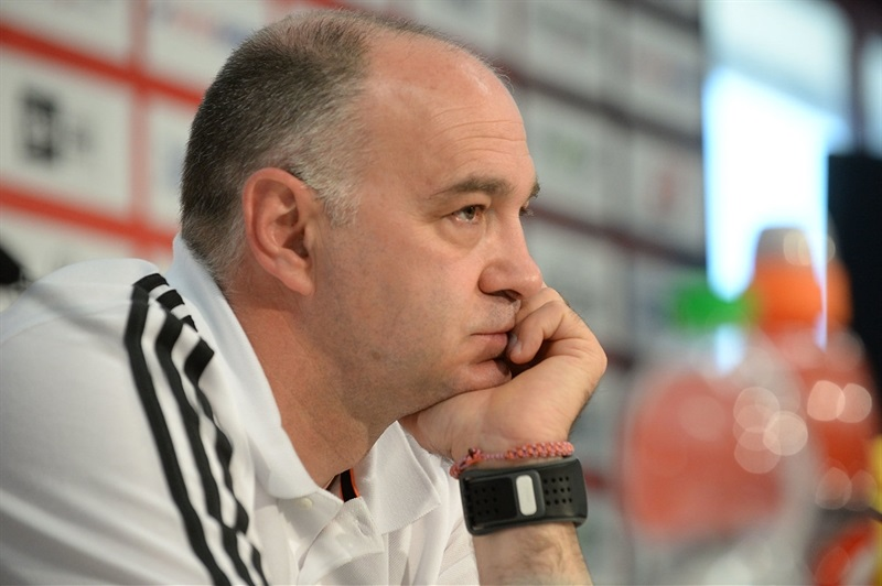 Pablo Laso of Real Madrid - Championship Game Press Conference, Milan 2014
