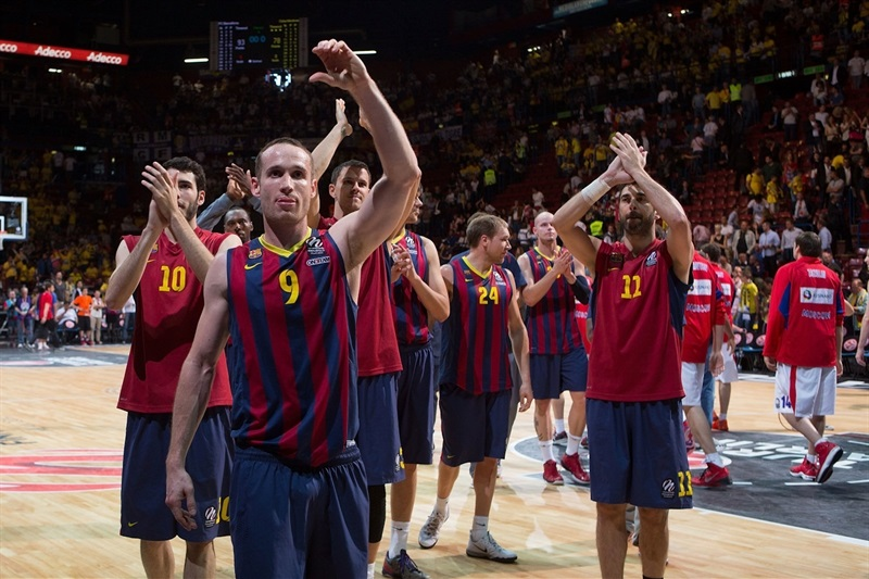 Marcelinho Huertas - FC Barcelona celebrates - Final Four Milan 2014