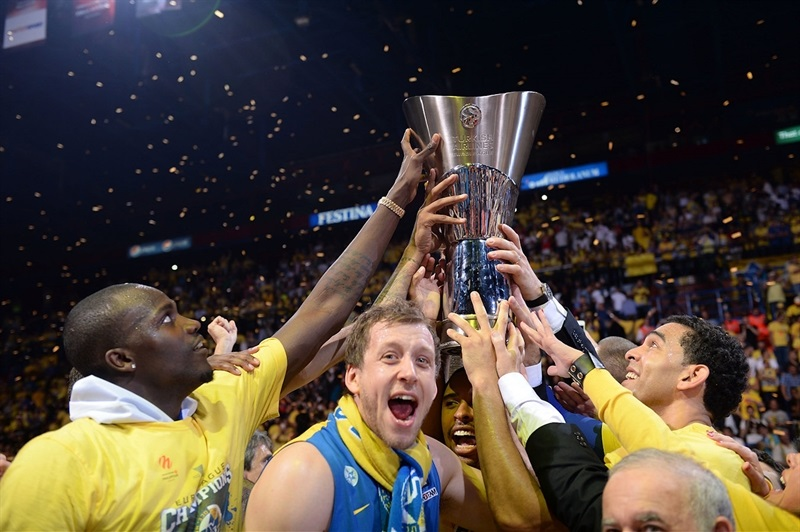Joe Ingles - Maccabi Electra celebrates - Final Four Milan 2014