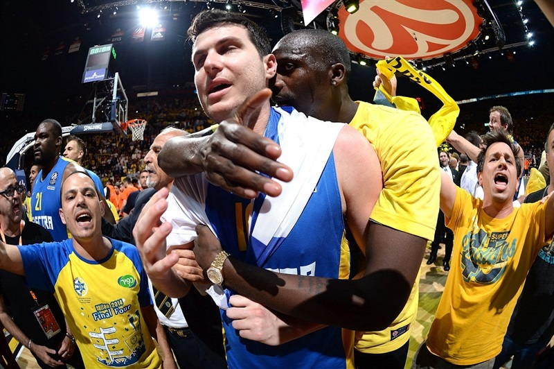 Guy Pnini - Maccabi Electra celebrates - Final Four Milan 2014