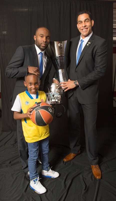 Tyrese Rice and david Blu - Maccabi Electra Trophy Photo Shoot - Final Four Milan 2014